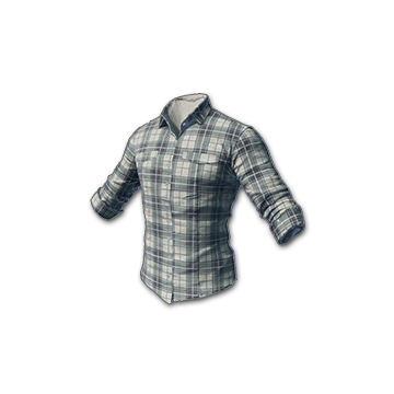 checked shirt (white)
