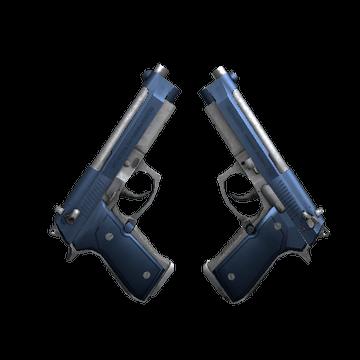 Dual Berettas Anodized Navy