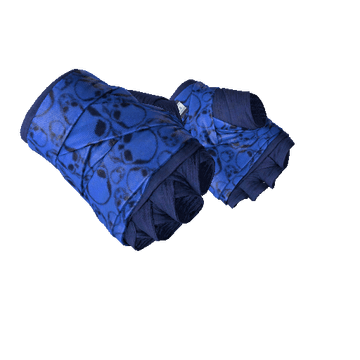 ★ Hand Wraps - Cobalt Skulls
