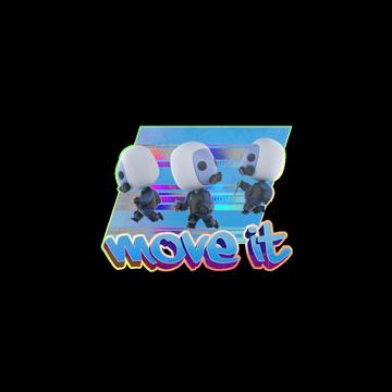Sticker Move It(Holo)