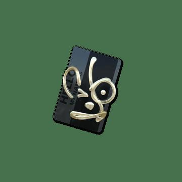 Sticker   Hello AUG (Gold)