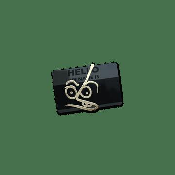 Sticker | Hello MP7 (Gold)
