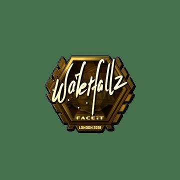 Sticker | waterfaLLZ (Gold) | London 2018