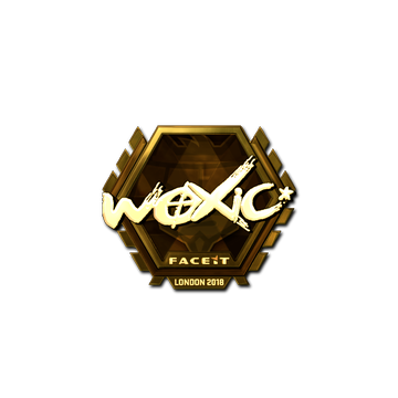 Sticker | woxic (Gold) | London 2018