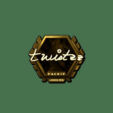 Sticker | Twistzz (Gold) | London 2018