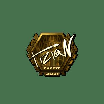 Sticker | tiziaN (Gold) | London 2018