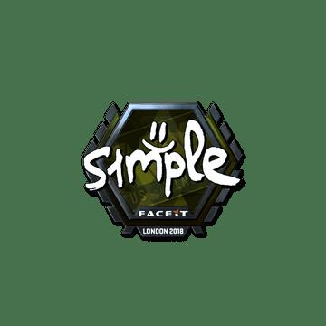 Sticker | s1mple (Foil) | London 2018