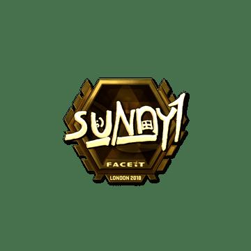 Sticker | suNny (Gold) | London 2018