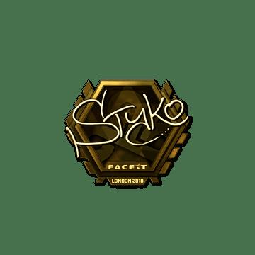 Sticker | STYKO (Gold) | London 2018