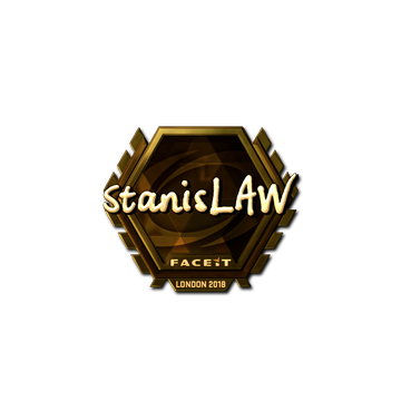 Sticker | stanislaw (Gold) | London 2018