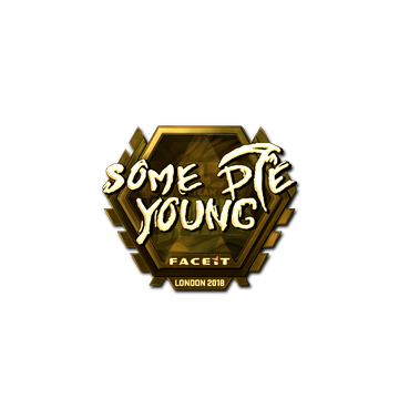 Sticker | sdy (Gold) | London 2018