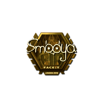Sticker   smooya (Gold)   London 2018