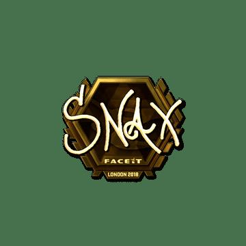 Sticker | Snax (Gold) | London 2018