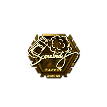 Sticker | somebody (Gold) | London 2018
