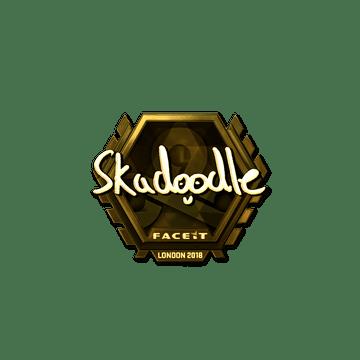Sticker | Skadoodle (Gold) | London 2018
