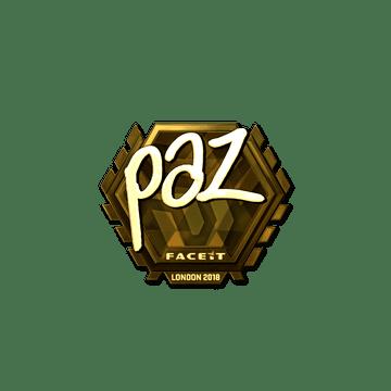 Sticker   paz (Gold)   London 2018