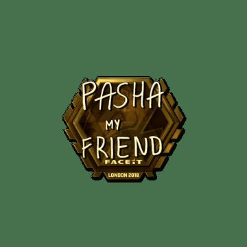 Sticker | pashaBiceps (Gold) | London 2018