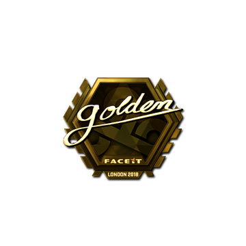 Sticker | Golden (Gold) | London 2018