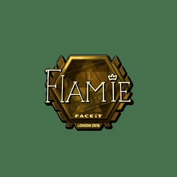 Sticker | flamie (Gold) | London 2018