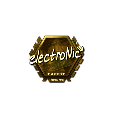Sticker | electronic (Gold) | London 2018