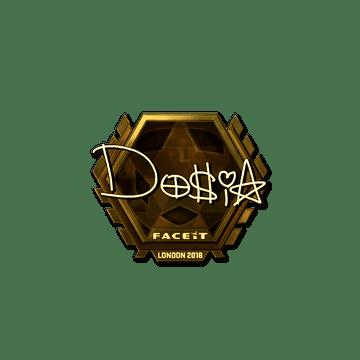 Sticker | Dosia (Gold) | London 2018