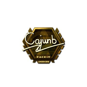 Sticker | cajunb (Gold) | London 2018