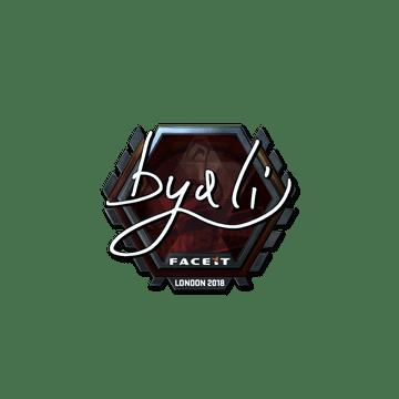 Sticker | byali (Foil) | London 2018