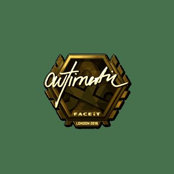 Sticker | autimatic (Gold) | London 2018