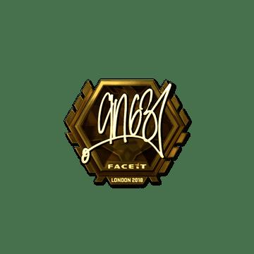 Sticker | ANGE1 (Gold) | London 2018
