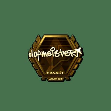 Sticker | olofmeister (Gold) | London 2018
