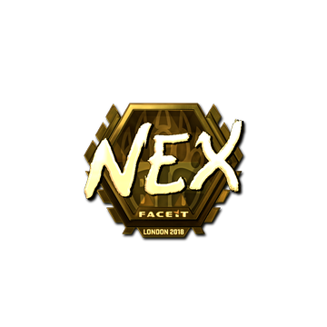 Sticker | nex (Gold) | London 2018