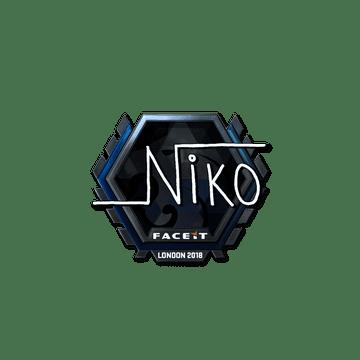 Sticker | niko (Foil)  | London 2018
