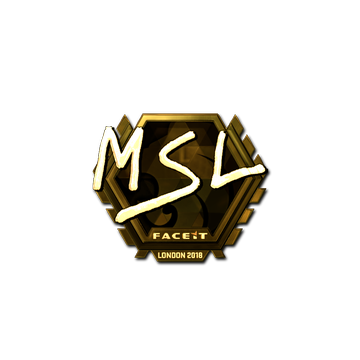 Sticker   MSL (Gold)   London 2018