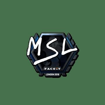 Sticker   MSL (Foil)   London 2018