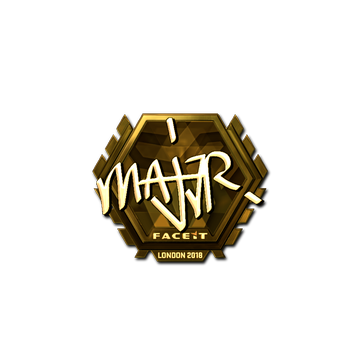 Sticker | MAJ3R (Gold) | London 2018