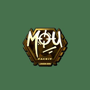 Sticker | mou (Gold) | London 2018