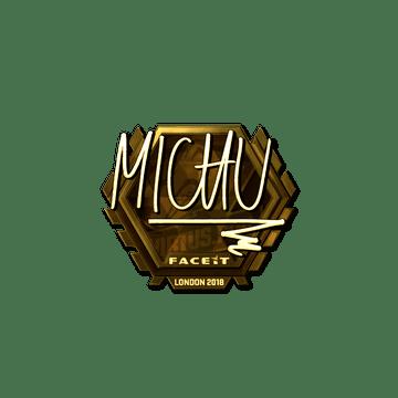 Sticker   MICHU (Gold)   London 2018