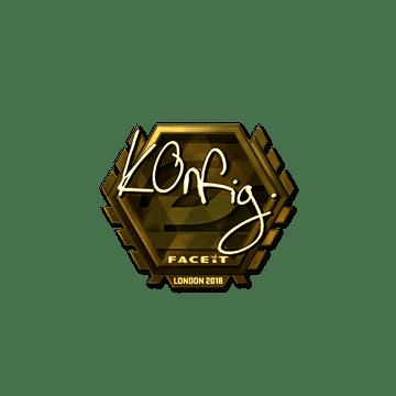 Sticker | k0nfig (Gold) | London 2018