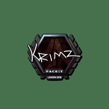 Sticker   KRIMZ (Foil)   London 2018