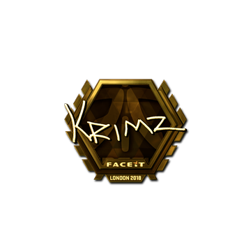 Sticker | KRIMZ (Gold) | London 2018