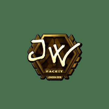 Sticker | JW (Gold) | London 2018