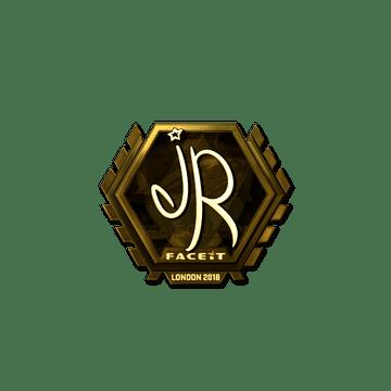 Sticker   jR (Gold)   London 2018
