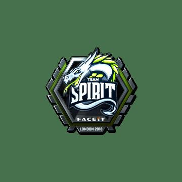 Sticker | Team Spirit (Foil) | London 2018
