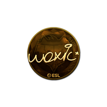 Sticker | woxic (Gold) | Katowice 2019