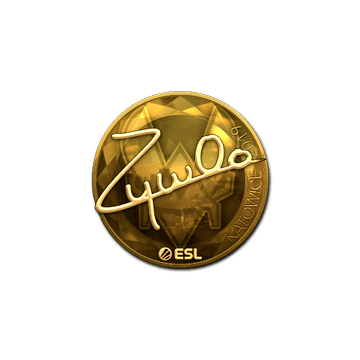 Sticker | ZywOo (Gold) | Katowice 2019