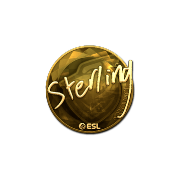 Sticker | sterling (Gold) | Katowice 2019
