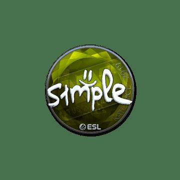 Sticker | s1mple (Foil) | Katowice 2019
