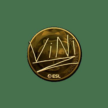 Sticker   VINI (Gold)   Katowice 2019