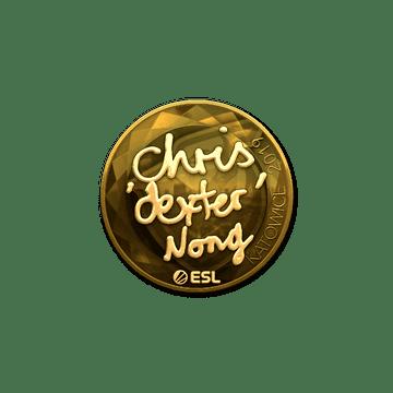 Sticker   dexter (Gold)   Katowice 2019