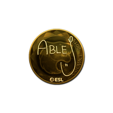 Sticker | ableJ (Gold) | Katowice 2019